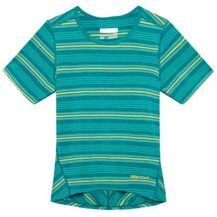 Marmot Gracie Shirt - UPF 30, Short Sleeve (For Girls) in Malachite - Closeouts