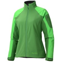Marmot Gravity Jacket - Soft Shell (For Women) in Dark Grass/Bright Grass - Closeouts