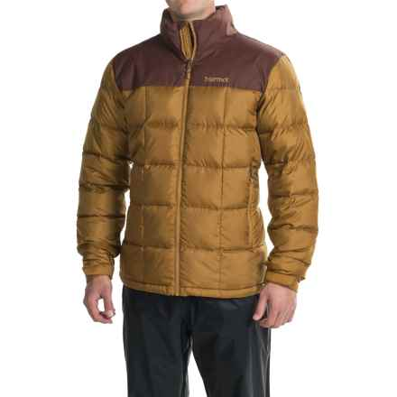 Marmot Greenridge Jacket - 600 Fill Power (For Men) in Golden Bronze/Marsala Brown - Closeouts