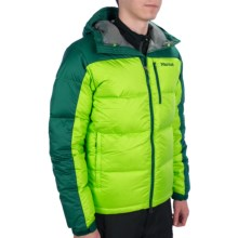 Marmot Guides Down Hoody Jacket - 650 Fill Power (For Men) in Green Envy/Gator - Closeouts