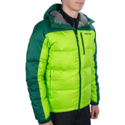 Marmot Guides Down Hoody Jacket - 650 Fill Power (For Men) in Green Envy/Gator