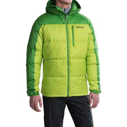 Marmot Guides Down Hoody Jacket - 700 Fill Power (For Men) in Vermouth/Rain Forest - Closeouts