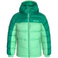 Marmot Guides Down Jacket - 700 Fill Power (For Little and Big Girls) in Green Frost/Green Garnet - Closeouts