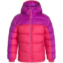Marmot Guides Down Jacket - 700 Fill Power (For Little and Big Girls) in Pink Rock/Beet Purple - Closeouts