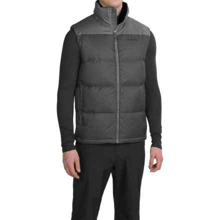 Marmot Guides Down Vest - 700 Fill Power (For Men) in Slate Grey/Cinder - Closeouts