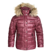Marmot Hailey Down Jacket - 700 Fill Power (For Little and Big Girls) in Berry Wine - Closeouts