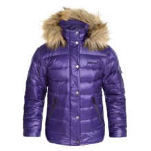 Marmot Hailey Down Jacket - 700 Fill Power (For Little and Big Girls) in Midnight Purple - Closeouts