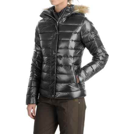 Marmot Hailey Down Jacket - Faux Fur, 700 Fill Power (For Women) in Black - Closeouts