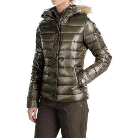 Marmot Hailey Down Jacket - Faux Fur, 700 Fill Power (For Women) in Deep Olive - Closeouts