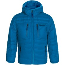 Marmot Hangtime Hooded Down Jacket - 700 Fill Power (For Little and Big Boys) in Cobalt Blue - Closeouts