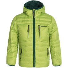 Marmot Hangtime Hooded Down Jacket - 700 Fill Power (For Little and Big Boys) in Vermouth - Closeouts