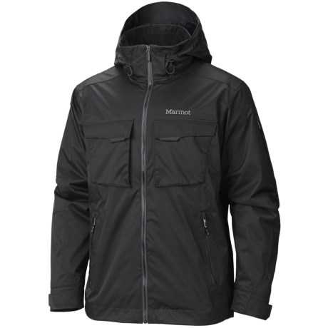 Marmot Hard Charger MemBrain® Jacket - Waterproof (For Men) in Black
