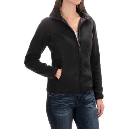 Marmot Harper Hooded Fleece Jacket (For Women) in Black - Closeouts