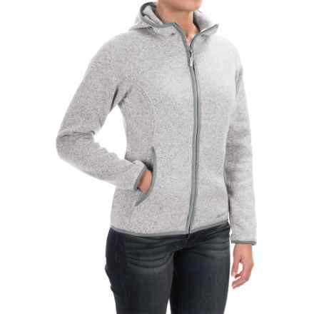 Marmot Harper Hooded Fleece Jacket (For Women) in Platinum - Closeouts