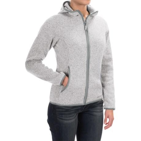 Marmot Harper Hooded Fleece Jacket (For Women) in Platinum