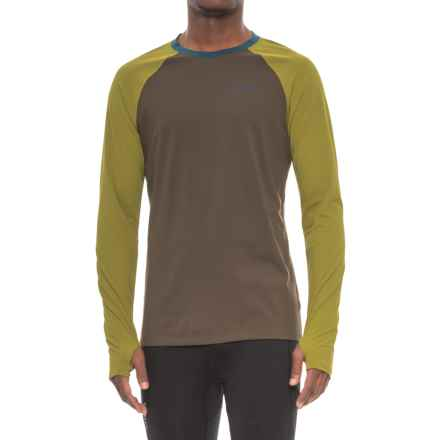 Marmot Harrier Shirt - Crew Neck, Long Sleeve (For Men) in Forest Night/Cilantro - Closeouts
