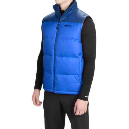 Marmot Highland Down Vest - 700 Fill Power (For Men) in Cobalt Blue/Blue Night - Closeouts