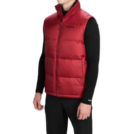 Marmot Highland Down Vest - 700 Fill Power (For Men) in Dark Crimson - Closeouts