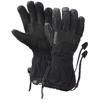 Marmot Hut Tour Gore-Tex® XCR® Gloves - Waterproof, Insulated (For Men) in Black