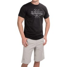 Marmot Ice Axe T-Shirt - Organic Cotton, Short Sleeve (For Men) in Black - Closeouts