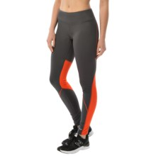 Marmot Interval Athletic Tights - UPF 50+ (For Women) in Dark Steel/Coral Sunset - Closeouts