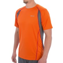 Marmot Interval Shirt - UPF 30, Short Sleeve (For Men) in Blaze - Closeouts