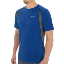 Marmot Interval Shirt - UPF 30, Short Sleeve (For Men) in Peak Blue - Closeouts