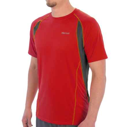 Marmot Interval Shirt - UPF 30, Short Sleeve (For Men) in Team Red - Closeouts