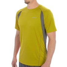 Marmot Interval Shirt - UPF 30, Short Sleeve (For Men) in Yellow Vapor - Closeouts