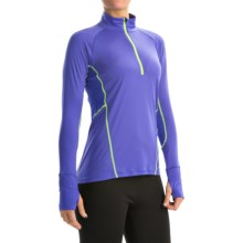 Marmot Interval Zip Neck Shirt - UPF 30+, Long Sleeve (For Women) in Gemstone/Hyper Yellow - Closeouts