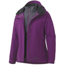 Marmot Intervale Component Jacket - Waterproof, 3-in-1 (For Women) in Grape Juice - Closeouts