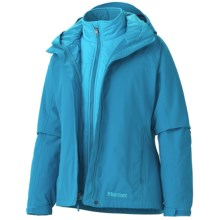 Marmot Intervale Component Jacket - Waterproof, 3-in-1 (For Women) in Mosaic Blue - Closeouts