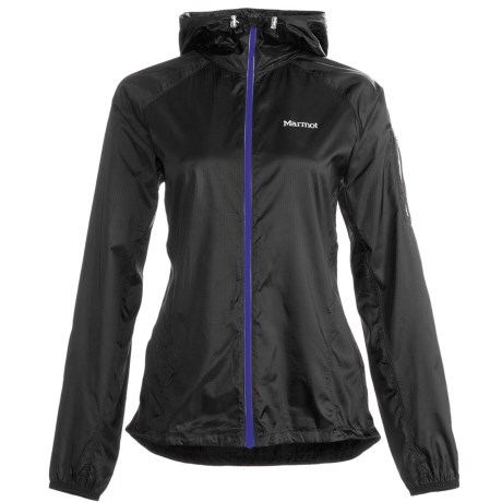 Marmot Ion Wind Jacket (For Women) in Black W/Purple