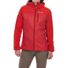 Marmot Isotherm Polartec® Alpha® Jacket - Insulated, Hooded, Full Zip (For Women) in Cherry Tomato - Closeouts