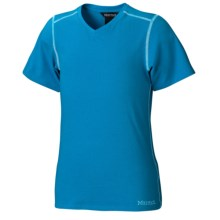 Marmot Jaden T-Shirt - Short Sleeve (For Girls) in Atomic Blue - Closeouts