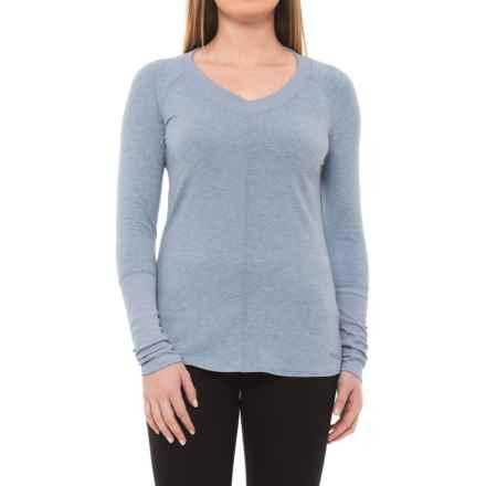 Marmot Jayla Shirt - UPF 30, V-Neck, Long Sleeve (For Women) in Dusk Heather - Closeouts