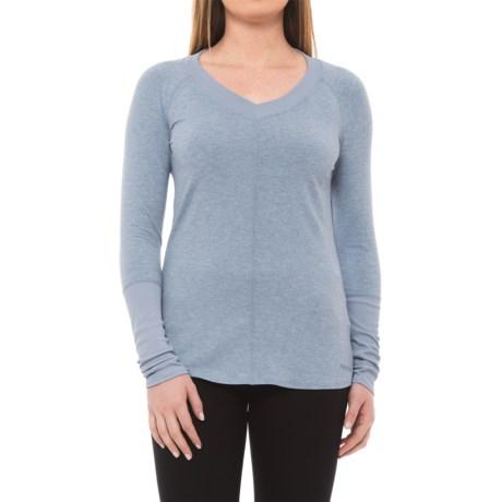 Marmot Jayla Shirt - UPF 30, V-Neck, Long Sleeve (For Women) in Dusk Heather