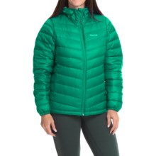 Marmot Jena Down Hooded Jacket - 700 Fill Power (For Women) in Gem Green - Closeouts