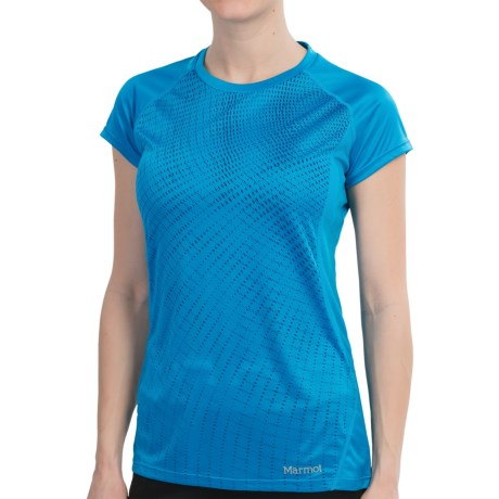 Marmot Jennifer Shirt - UPF 50, Short Sleeve (For Women) in Atomic Blue