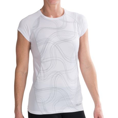 Marmot Jennifer Shirt - UPF 50, Short Sleeve (For Women) in White Gradient