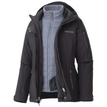 Marmot Julia Component Jacket - Waterproof, Insulated, 3-in-1 (For Women) in Black - Closeouts
