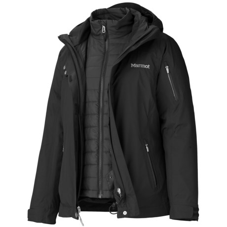 Marmot Julia Component Jacket - Waterproof, Insulated, 3-in-1 (For Women) in New Black