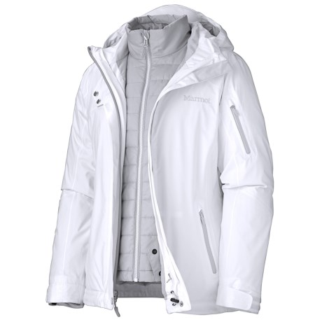 Marmot Julia Component Jacket - Waterproof, Insulated, 3-in-1 (For Women) in New White