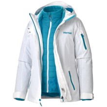 Marmot Julia Component Jacket - Waterproof, Insulated, 3-in-1 (For Women) in White - Closeouts