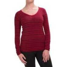 Marmot Julia V-Neck Shirt - UPF 30, Long Sleeve (For Women) in Dark Raspberry - Closeouts