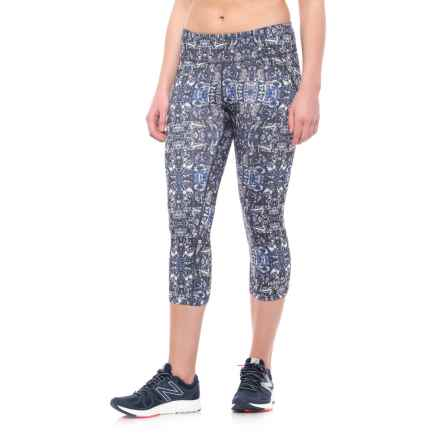Marmot Jump Start Capris - UPF 50 (For Women) in Black Kaleidoscope - Closeouts