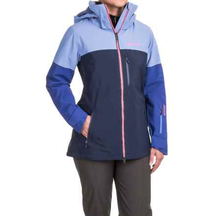 Marmot Jumpturn Gore-Tex® Jacket - Waterproof (For Women) in Dewdrop/Royal Night - Closeouts