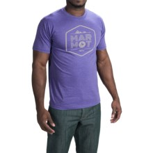 Marmot Just Marmot T-Shirt - Short Sleeve (For Men) in Purple Heather - Closeouts