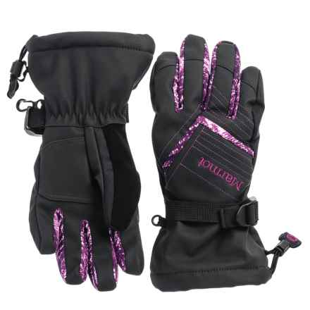 Marmot Katie Gloves - Waterproof, Insulated (For Women) in Black/Deep Plum Freshies - Closeouts