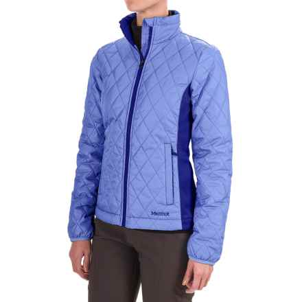 Marmot Kitzbuhel Jacket - Insulated (For Women) in Dewdrop/Royal Night - Closeouts